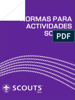 NORMAS de SALIDAS Scouts Del Peru Extendido
