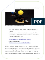 into the groove- the sun earth and moon orrery project design brief