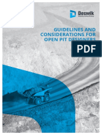 Guidelines Considerations for Open Pit Design
