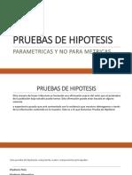 Pruebas de Hipotesis