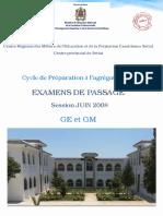 Examen de Passage Agregation 2018 GE GM