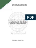 ANÁLISIS CRÍTICO DE LAS PROVIDENCIAS CAUTELARES Y LOS PRESUPUESTOS.pdf
