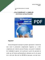 Proiect Ed. Ziua Europeana a Limbilor