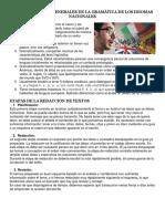 Características Generales de La Gramática de Los Idiomas Nacionales