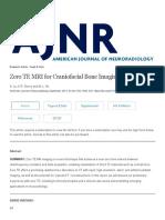 Zero TE MRI for Craniofacial Bone Imaging