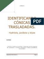 IDENTIFICANDO CONICAS TRASLADADAS