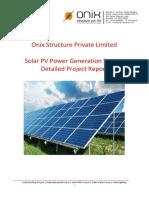 1 MW Onix Solar Project Report