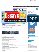 eassys for s.s.t