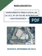 Memoria Descriptiva Acochacan Final (21!08!2019) Ok