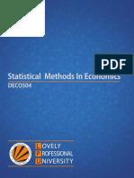 Deco504 Statistical Methods in Economics English