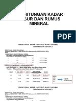 Perhitungan Rumus Kimia Mineral
