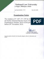 Examination Notice Dated 20th November 2018 (1)