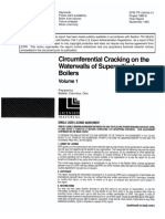 Circumferential Cracking on the Waterwalls of Suepr Critical Boilers