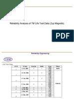 TM - Life Test Data Analysis