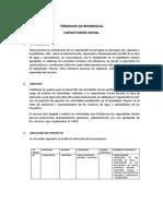 TDR DE CAPACITACION EN OPERACION Y MANTENIMIENTO