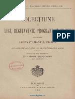 Colecțiune de Legi, Regulamente, Programe Și Orarii Privitoare La Învățământul Primar (1908)