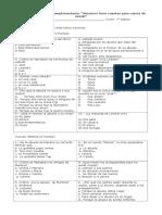 Evaluación de Lectura Complementaria ALUMNOS SOCORRO