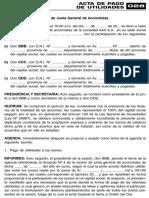 ACTA DE PAGO DE UTILIDADES