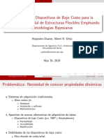 Dispositivos de bajo costo para análisis modal de estructuras flexibles con métodos bayesianos