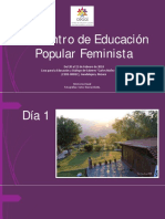 Memoria Visual Encuentro EPF 2018 CEAAL