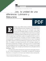 Maturana y Luhmann Autopoiesis