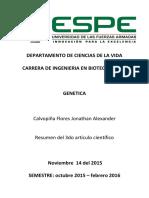 Calvopiña Jonathan - Homosexualidad y Epigenetica
