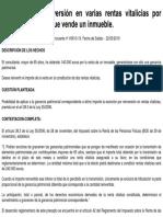 Exencion Reinversion Varias Rentas Vitalicias Mayores 65 Venta Inmueble