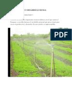 Agua de Riego y Desarrollo Rural