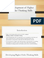 Development of Higher Order Thinking Skills.pptx