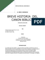 Breve Historia Del Canon Biblico
