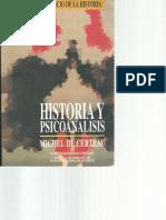 2. de Certeau, Michel - La Historia, Ciencia y Ficción- Historia y Psicoanalisis