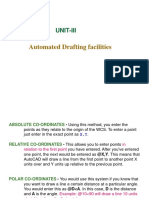 UNIT-III Automated Drafting Fecilities