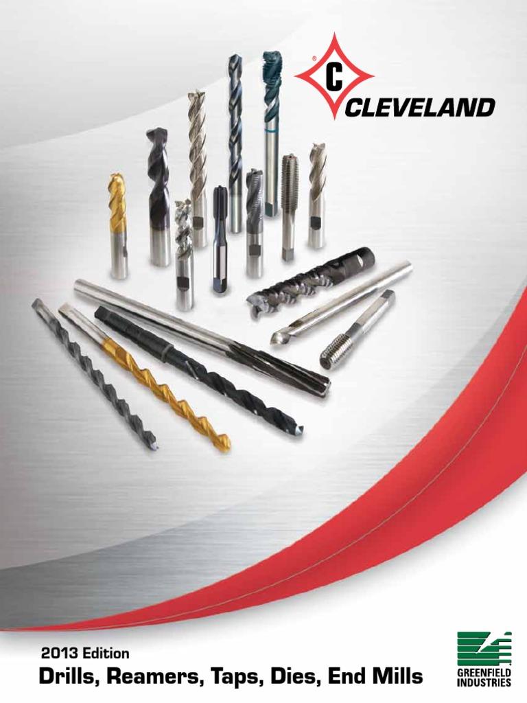 Cleveland Straight Flute Tap C54414 M6x1 HSS 4 Flute D 5 Plug List 1002