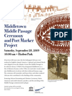 Middletown's Middle Passage Ceremony and Port Marker Project