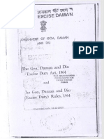 The Goa, Daman and Diu Excise Duty Act & Rules 1964