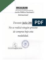 NOTA Licitacion Publica Nacional e Internacional Julio 2019