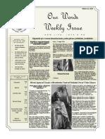 Newsletter Volume 10 Issue 33