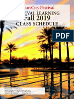 Festival Learning Fall Class 2019