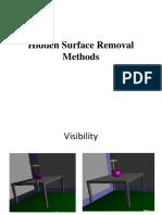 Unit II Hidden Surface Removal Methods