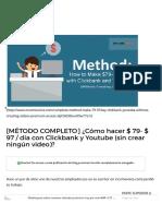 [MÃ_TODO COMPLETO] Â¿Cómo hacer $ 79- $ 97 _ dÃ_a con Clickbank y Youtube (sin crear ningún video)_