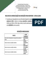 Monitoria191 Homologacao Inscricao Monitoria