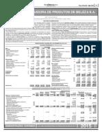 Demonstraá∆o Financeiras C†lamo Distribuidora de Produtos de Beleza SA_3...