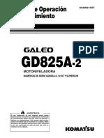 O&M Komatsu GD825A-2