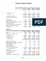Clarkson Lumber Cash Flows and Pro Forma
