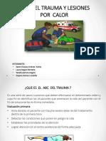 ABC  DEL TRAUMA Y LESIONES POR  CALOR.pptx