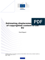 Estimating Displacement Rates of Copyrighted Content in the EU