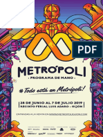 Programa Mano Metrópoli 2019 2