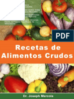 Recertas de Alimentos Crudos