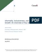 Informality Inclusiveness and Economic G