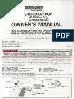 Sheridan PGP2 owners manual